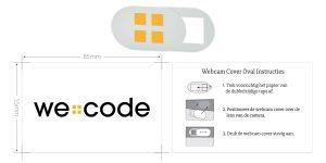 webcam cover bedrukken wecode