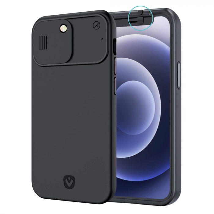 iphone 12 pro max hoesje met camera covers